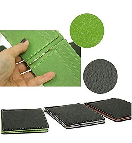 Herren-id-geld-clip (PRIMI Herren Fashion Slim Geld Clip Wallet Kreditkarte ID Holder Bifold Geldbörse)