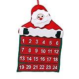 Caolator - Calendario de adviento, decoración de pared para Navidad