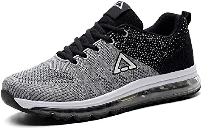 AIRAVATA SHYL8018 - Zapatillas de Atletismo de Caucho para Hombre, Color Gris, Talla EU 40-250mm