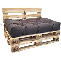 berlinpillow.de 4260406165413 Original Palettenkissen Comfort, 120 x 80 cm, anthrazit/grau