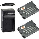DSTE 2x SLB-10A Battery + DC23 Travel and Car Charger Adapter for Samsung P800 P1000 PL51 PL55 SL720 SL820 ES55 ES60 EX2F HMX-U20 HZ10W HZ15W M110 NV9 Camera