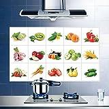 SMNCNL L'huile de cuisine contre haute température four extracteur de film d'aluminium tuiles mur étanche des fruits et légumes des affiches