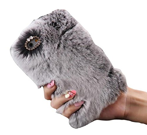 iphone-6s-47-coque-tonsee-chaud-laine-fluffy-faux-villi-fur-peluche-bling-housse-etui-gris