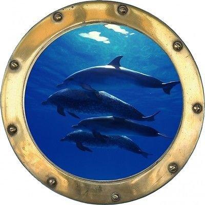 stickersnews-sticker-hublot-fond-marin-dauphins-10-dimensions-30x30cm