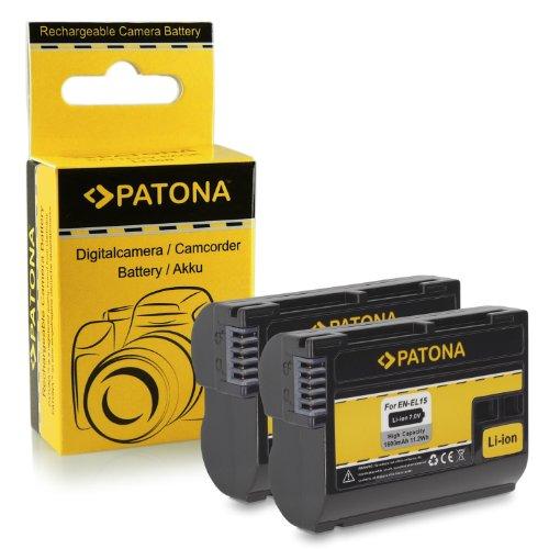 Galleria fotografica 2x Batteria EN-EL15 per Nikon 1 V1 - Nikon D600 | D800 | D800E | D7000 | D7100