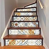 6 teile/los BoConcept Keramikfliesen Treppenaufkleber Bunte Ziegel Treppe Dekoration Aufkleber Wasserdichte Neue Art Home Corridor Wandbild