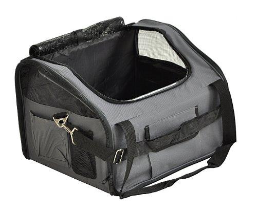 nanook Auto Transporttasche für Tiere / Transportbox – 43 cm – anthrazit – für Hunde, Katzen und Nager – mit Gurtbefestigung - 3