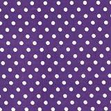 gepunktet Polybaumwolle Stoff lila