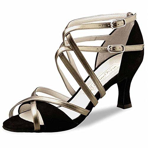 Werner-Nucléaire Femme Chaussures de Danse Eva 6,5 Schwarz/Antik
