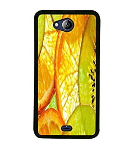 Fuson Premium 2D Back Case Cover Fruits With Multi Background Degined For Micromax Canvas Play Q355