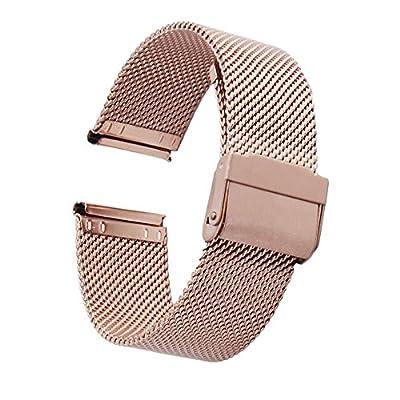 ZHUGE Mode Correas para relojes - Correa de reloj de acero inoxidable Milanese Mesh Para Mujeres 18mm 20mm 22mm