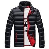 PZJ® Herren Daunenjacke übergangsjacke, Herren Strickjacke Langarmshirt Parka Jacke Trenchcoat Outwear Winterparka