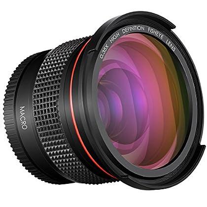 Neewer Objetivo Gran Angular Pro para Cámara Réflex Digital, 52mm y 0,35x Compatible con Nikon D3300, D3200, D3100, D5500 y D5100 o PENTAX K-30, K-50, K-500, K-5 y K-5 II (52mm)