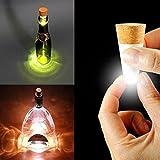 Xcellent Global LED Kork Stoppel Tischlampe Flaschenbeleuchtung Gartenlampe Cork USB Akku USB Bottle Light [Energieklasse A+]