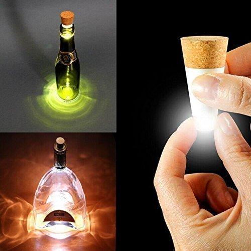 Xcellent global tappo per bottiglia di vino con luce led a colori cangianti ricaricabile via usb per feste o natale i-ld069