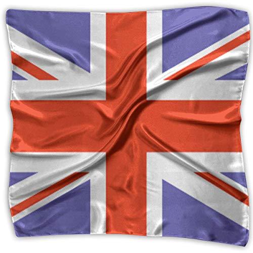 Bikofhd British Flag Fashion Women Floral Printed Lady Square Scarf Head Wrap Kerchief Neck Satin