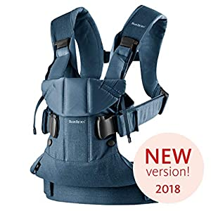 BABYBJÖRN Baby Carrier One, Cotton Mix, Classic Denim/Midnight Blue, 2018 Edition   6