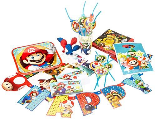 Amscan 9902642 Partyset Super Mario ()