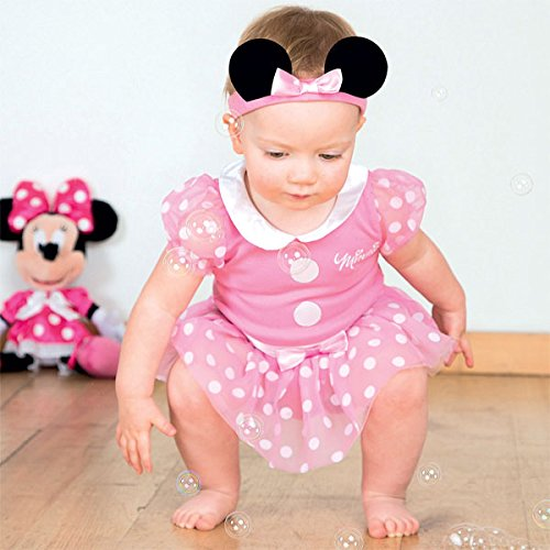 Kleid bis Minnie Maus Infant Kostüm, pink, ()