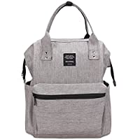 Scheppend Multi Functional Anti Theft Mummy Backpack Large Capacity Shoulders Bag Grey