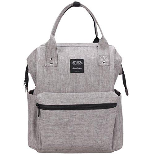 Scheppend Anti-Diebstahl Multi funktionelle Mumie Tasche Travel Rucksack Schulter Windel wechseln Tasche/Rucksack für Männer, Frauen (Stich-laptop-tasche)