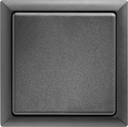 Eltako Funk-Flächentaster, batterie- und leitungslos, mit Flächenwippe/Doppelwippe, 1 Stück, anthrazit, FT4-F-AN