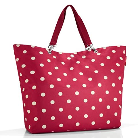 Reisenthel ZU3014 Einkaufstaschen Shopper XL Große 68 x 45.5 x 20 cm, ruby dots