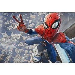 Jigsaw Puzzles Rompecabezas Marvel Superhero Poster Avengers Spider-Man, Rompecabezas de Madera for Adultos Niños, 300/500/1000 Piezas for Boy Girl Friends Gift Toys Juego Decoración del hogar