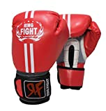 Ring Fight Pro Boxing Gloves (Red)