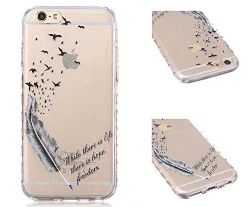 ZeWoo TPU Schutzhülle - BF031 / I Love Giraffe - für Apple iPhone 6 (4,7 Zoll) Silikon Hülle Case Cover BF039 / Leben und Hoffnung