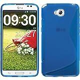 Funda de silicona para LG G Pro Lite - S-Style azul - Cover PhoneNatic Cubierta + protector de pantalla