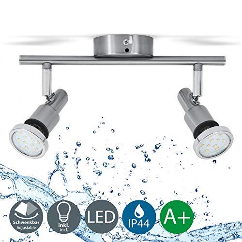 LED Deckenleuchte Bad-Deckenlampe Badezimmerleuchte Badezimmerlampe Deckenstrahler inkl. 2 x 5W Leuchtmittel 400lm IP44