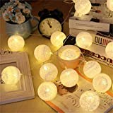 Satyam Kraft 10 Led Cotton Ball Battery Operated Decorative Lights, Fairy Lights For Christmas, New Year, Home Decoration, Holi, Birthday Decoration, Party, Wedding, Gift, Celebration, Lamps For Home Decoration, Home Decor Lights, Fairy Lights, Lights For