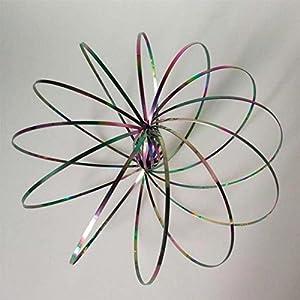 Gifts 4 All Occasions Limited SHATCHI-975 - Anillo de acero inoxidable con diseño de arcoíris