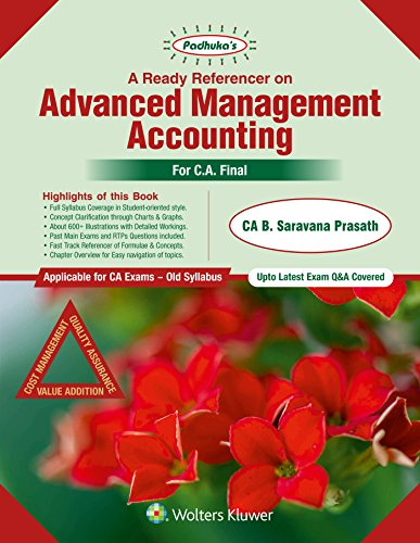 Advanced Management Accounting Book For Ca Final