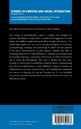 Intersubjective Communication and Emotion in Early Ontogeny Hardback (Studies in Emotion and Social Interaction)