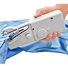 AMOS Mini Stitch Handheld Cordless Portable Travel Clothes Fabric Curtains Lightweight Craft Sewing Machine Battery or Mains with Extra Bobbin & Needle & Threader by AMOS