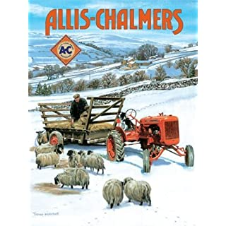 Allis Chalmers (Snow) small steel sign 200mm x 150mm (og)