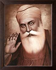 Art n Store Wooden and Acrylic HD Printed Gurunanak Dev Ji Giving Blessing Poster with Frame (30x23.5x1.5 cm)