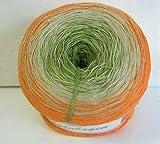 Rellana Regenbogen, Bobbel, Farbe 32 sandelholz, 4-fach gefachtes Garn zum Häkeln und Stricken, 200 Gramm Knäuel ca. 800 M LL, toller Farbverlauf