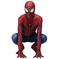 QWEASZER Marvel Classic Peter Parker Spider-man costume Spiderman costume Cosplay zentai Costume Adult Halloween Fancy Dress Party movie Costume Props