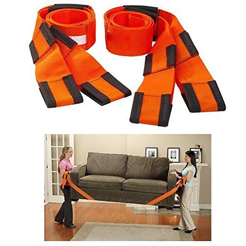 DIYI 2tlg Hebegurt Tragehilfe Tragegurt für Möbel und Umzug Easy Lifter