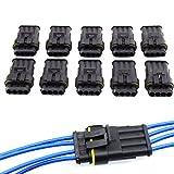 10connettori elettrici con contatto Superseal a 4 poli, impermeabili, per auto