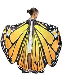 Amphia - Mädchen Schmetterlings-Flügel-Schal,Kind Baby Mädchen Schmetterlingsflügel Schal Schals Nymphe Pixie Poncho Kostüm Zubehör