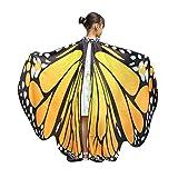 Xmiral Disfraz Chal de Alas de Mariposa para Niñas Chicas, Capa Traje Hada Duendecillo Cosplay Bufanda Baile