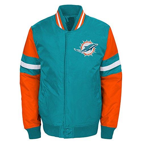 Outerstuff NFL Miami Dolphins Jungen Youth legendären Farbe Blockiert Varsity Jacke, Jungen, 9K1B7FAJ7 DOL -BXL20, Aqua, Youth XL (Miami Dolphins Farben)