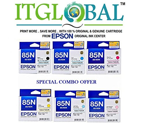 Epson 85 N Bk/M/LM/C/LC/Y [Set of 6 Cartridge] -Special ITGLOBAL Combo With Scratch & Win Reward Offer – From ITGLOBAL 85N image - Kerala Online Shopping