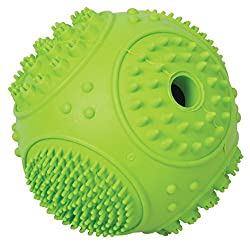 Terrain D.O.G. 07-7000-GR Rubber Treat Ball, Sphere, Green