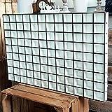 DEKOLANDO Setzkasten - 108 Fächer - im Vintage Landhausstil - Sammlerbox Sammlervitrine Sammlerkasten - Geschenk für den Sammler