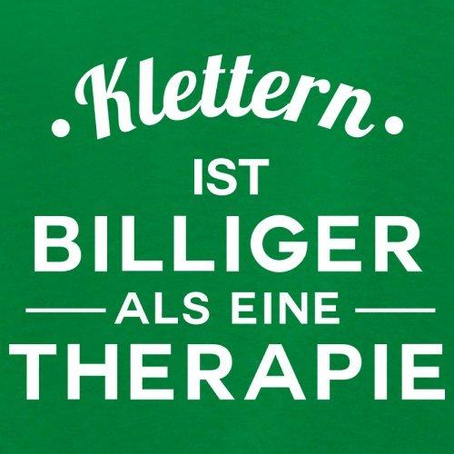 Klettern ist billiger als eine Therapie - Damen T-Shirt - 14 Farben Grün